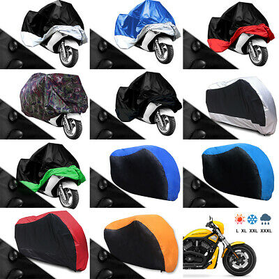 Motorcycle Motor Bike Scooter Waterproof UV Dust Protector Rain Cover ExtraLarge