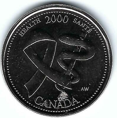2000 Canadian Brilliant Uncirculated Commemorative Creativity 25C Roll of 40!