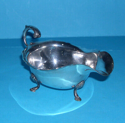 Jays Oxford Street - Attractive Helmet Shaped Silver Plated (EP.A1) Sauce Boat.
