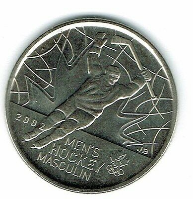 2009 Canadian Brilliant Uncirculated Commemorative Men's Hockey 25 Cent Coin!