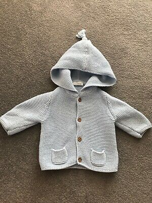 Next Baby Blue Boy Knitted Cardigan Up To 3 Months