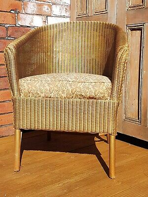 CC41Utility Fireside Vintage Mid Century Chair Lloyd Loom by Sirrom WW2 1941-51