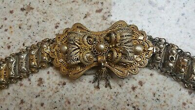 Antique Ottoman Filigree Belt Ethnic Balkan 103 cm