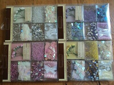 4 Packs of Different Coloured Embellishment Sets