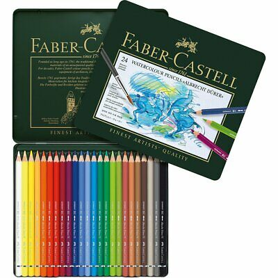 Faber-Castell Albrecht Durer Artists' Watercolour Pencils Tin Set of 24 Colours