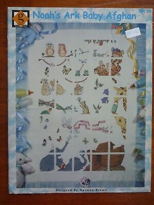 Graphworks International Cross Stitch Pattern Leaflet - Noah's Ark Baby Afghan