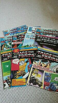 Marvel UK Comics Transformers - Bulk lot 11 Issues