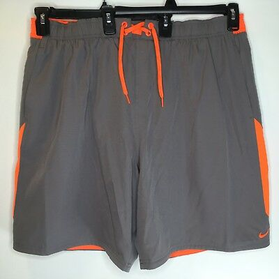 d95d4888b7 NEW Nike Mens Volley Swim Shorts Size XXL 9-inch Grey and Orange NWT