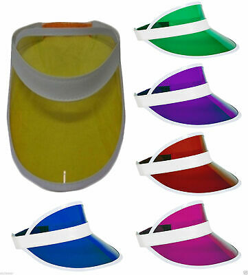 95720fc2 New Adult Poker Sun Visor Hat Headband Golf Neon Pub Stag Hen 80'S Fancy  Dress