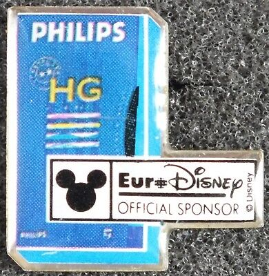 Vintage Eurodisney Philips Hg Official Sponsor Badge Pin. Uk Dispatch.