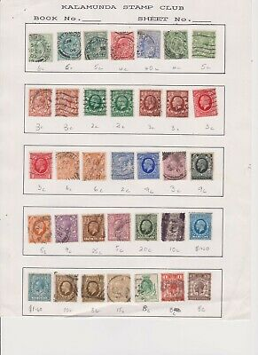 Gb  Album Page Of Used George V Stamps Various Values