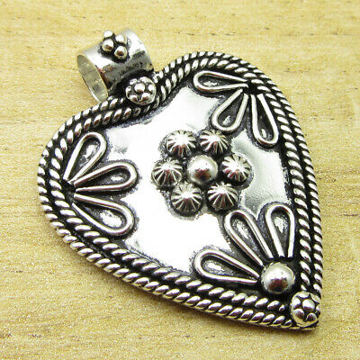 "VINTAGE STYLE Pendant 1.6"" Luxury ! Silver Plated Jewellery GIFT FOR LOVED ONES"
