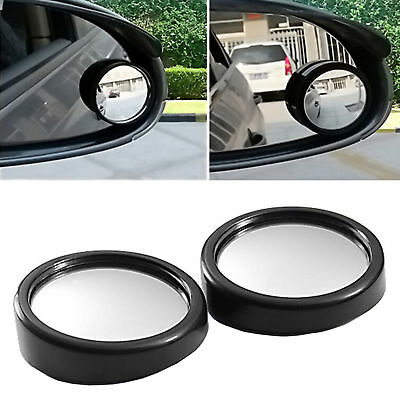 2X Blind Spot Stick-On Mirrors Round Adjustable Adhesive Car Safety Accessories