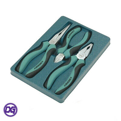 Plier Set Signet S90193 Professional 3piece Side Cutters, Long Nose, Combination