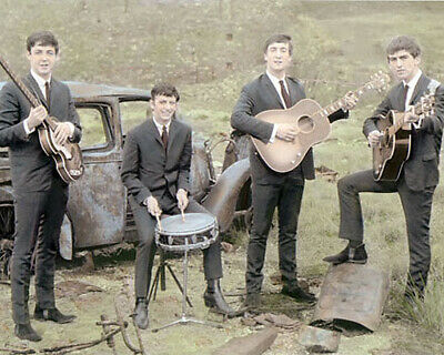 "THE BEATLES ROCK & ROLL LEGENDS earlydays 8x10"" HAND COLOR TINTED PHOTOGRAPH"