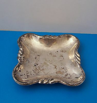 Vintage 925 Sterling Silver Mexico Ashtray~84.9 Grams