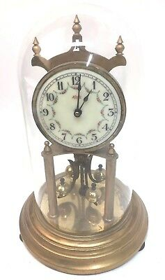 Vintage West Germany KUNDO KIENINGER & OBERGFELL 400 Day Anniversary Dome Clock
