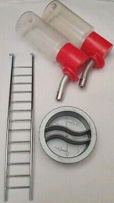 Small Rotastak Accessories Bundle Ladder/Bottles/Stopper for Hamster/Mouse Cages
