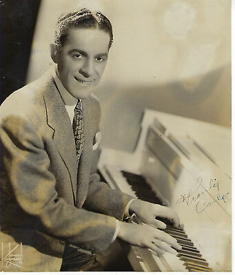 Jazz pianist bandleader Frankie Carle autographed photo AUTHENTIC