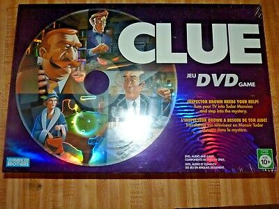 Clue DVD Board Game 2006 Parker Brothers Hasbro New~ Sealed~ French/English ver?