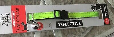 New Billy & Macy Cat Collar - Reflective/fluorescent With Bell