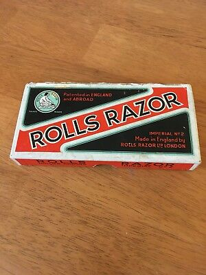 Vintage Self-Sharpening Safety ROLLS RAZOR Imperial No 2 HOLLOW GROUND COMPLETE.