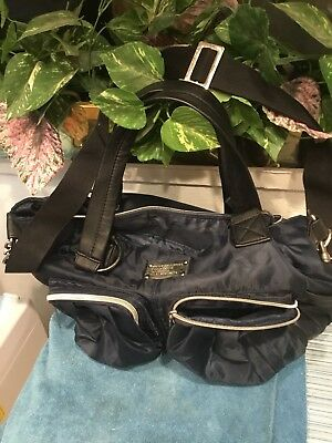 "Wendy Bellisimo Supply Satchel Diaper Bag Blue Navy Euc 16""x 12"""