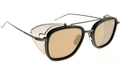 c3acc4a8c8f AUTHENTIC  THOM BROWNE  TB-808 A-BLK-GLD-51  Matte Black Sunglasses ...