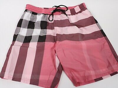 1f6cb19be5 AUTHENTIC BURBERRY LONDON•DRAWCORD Swim Shorts•Black Check•Men's ...