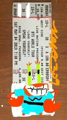 Bts Ticket Rose Bowl Pasadena Section 19L - Row 38 - 1 Ticket Available *rare*