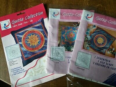 Arty's gutta collection silk scarf and cushion covers silk painting bundle.