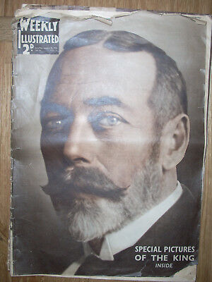 WEEKLY ILLUSTRATED 25 JAN 1936 'SPECIAL PICTURES of the KING' VGC