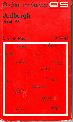 Jedburgh Ordance Survey Map 1 Inch 1 Mile Price Sheet 70 Vgc