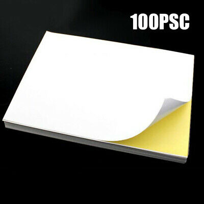 Sticker Paper 210*290mm Self Adhesive Blank Synthetic Label Film Transparent