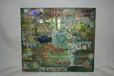 An Original Steampunk Mixed Media Wall Art Painting By Froge