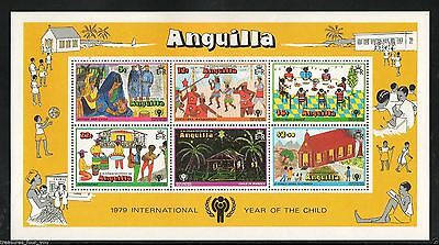 1979 Anguilla  IYC UN International Year of the Child Stamp Sheet Christmas