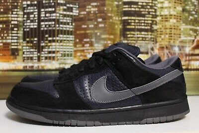 separation shoes 5d7bc 64588 Nike Sb Dunk Low Gino Black Obsidian Graphite 2002 Skateboarding Sneaker Sz  10.5