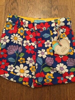 Little Bird By Jools Oliver Girls Floral Shorts Age 2-3 Years Bnwt