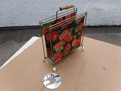 VINTAGE  RETRO  FLORA STORAGE   PAPERS / MAGAZINES or STATIONERY FREE DELIVERY.