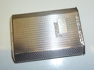 Vintage Art Deco Kraftalpacca Silver Match Box Holder - Streichholzbox - Rare