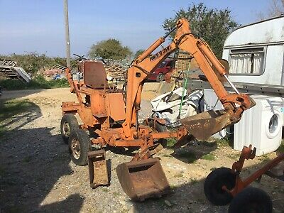 Power Fab 125 Wt. Mini Digger Towable Fold Up Micro Digger Excavator Digger