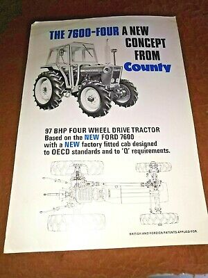 county tractor 6600 four county cab  sales brochure