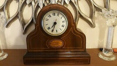 Clock In Wooden Case....battery Operated....