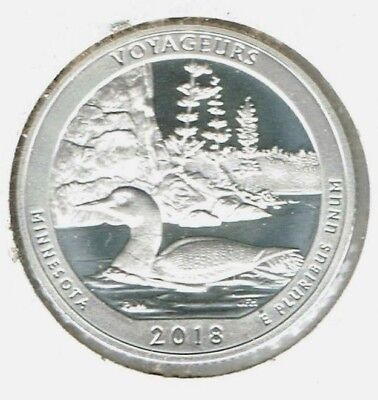 2018-S San Francisco Silver Proof Voyageurs National Park (MN) 25 Cent Coin!