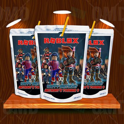 ROBLOX PARTY BRACELET Box Banner Balloons Cake Toppers Cupcake