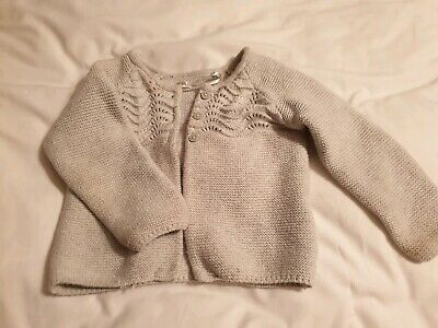 Baby Girl Tu Grey Cardigan 6-9 Months
