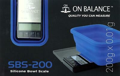On balance scales 200g SBS - 200 Digital Scale with Silicon Bowl jewellery scale