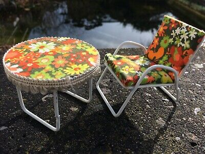 Stuhl Tisch Garten Bodo Hennig Puppenstube Puppenhaus 1:12 dollhouse chair table