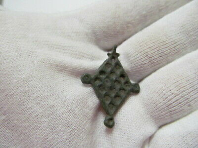 "Ancient bronze pendant ""sown field"" Kievan Rus Vikings 11-12 AD № 539/6."