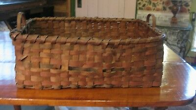 Antique Splint Basket Circa 1865